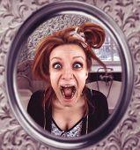 image of queer  - Screaming woman - JPG