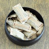 picture of snuff  - Bunch of swedish snus close - JPG