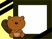 stock photo of beaver  - cute baby beaver background in vector format very easy to edit - JPG