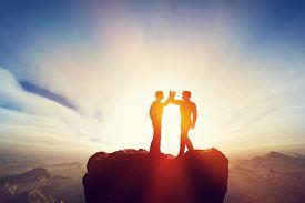 image of mountain-high  - Two men - JPG
