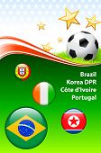 World Soccer Event Group G Original Illustration