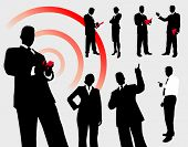 Business People Silhouette Collection Original Illustration