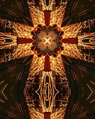 Kaleidoscope Cross:  Welder'S Sparks9