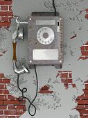 Old Style Rusty Phone