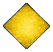 image of road sign  - Yellow road sign - JPG