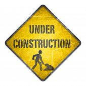 Under construction yellow sign