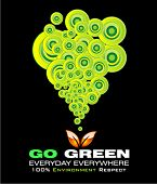 VECTOR Go green recycle and environment background