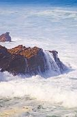Waves Over Rock Outcropping