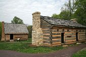 stock photo of slave-house  - Slave housing and slave kitchen on the grounds of the Hermitage Andrew Jacksons estate in Nashville Tennesee - JPG