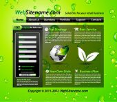Business GREEN eco themed website template