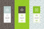 Vector Set Of Packaging Design Templates poster