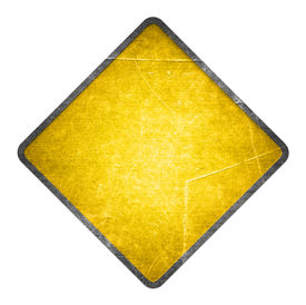 picture of road sign  - Yellow road sign - JPG
