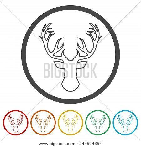 Deer Head Illustration Vector 6