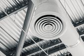 Industry Building Interior Air Duct Air Condition Pipe Ceiling Air Flow Industrial Design poster