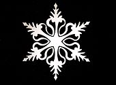 White Laser Cut Snow Flake