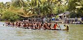 Snake Boat Race Kerala Half Way Finish Line