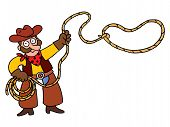 Cowboy com laço