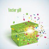 Vector editable illustration of magic gift box