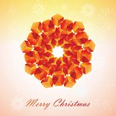 Christmas snowflake illustration.