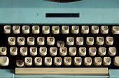 Old Style White Typewriter Keyboard
