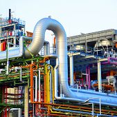 Chemical Industry - Factory For The Manufacture Of Chemical Products - Architecture And Equipment poster