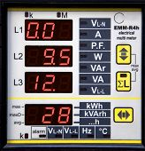 picture of dynamo  - digital display of current values on on a generator - JPG