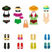 Beachwear Bikini Cloth Fashion Looks Vacation Lifestyle Women Collection Sea Light Beauty Clothes Ve poster