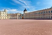 Russia Gatchina parade-ground before palace