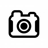 Photo Camera Vector Icon On White Background. Photo Camera Modern Icon For Graphic And Web Design. P poster