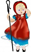 stock photo of shepherdess  - little bo peep - JPG