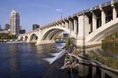 Third Avenue Bridge In Minneapolis