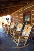 image of log cabin  - 3 rocking - JPG