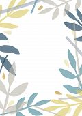 Creative Backdrop With Frame Or Border Made Of Colorful Translucent Foliage Of Forest Trees And Plan poster