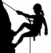 Abseiling Lady