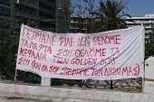 Greek Banner during Demonstrations - June/July 2011