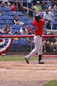 Portland Sea Dogs batter Will Middlebrooks swings