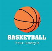 Basketball Your Lifestyle Basketball Background Vector Image poster