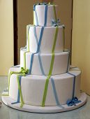 Wedding Cake At The Bakery