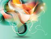 Abstract Vector Background With Transforming Forms