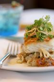 Sauteed Sea Bass And Vegetable Ragout