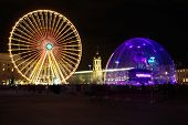 Bellecour Square In Lyon During Light Festival