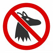 No Fox Vector Icon. Flat No Fox Pictogram Is Isolated On A White Background. poster