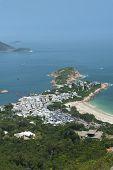 Idyllic Landscape Of Resort Village Shek O In Hong Kong. Viewed From Dragons Back poster