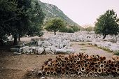 Antique City Of Ephesus.ruins Of An Ancient City In Turkey.archaeological Site, Expedition.remains O poster