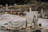 Antique City Of Ephesus.the Ruins Of An Ancient City In Turkey.selcuk, Kusadasi, Turkey.archaeologic poster