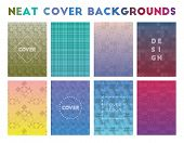 Neat Cover Backgrounds. Actual Geometric Patterns, Attractive Vector Illustration. poster