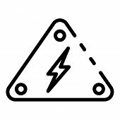 Danger Voltage Sign Icon. Outline Danger Voltage Sign Vector Icon For Web Design Isolated On White B poster