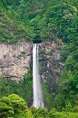 Постер, плакат: Лесной природы водопад Нати пейзаж Кумано Кансай Япония Азия