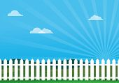 Nice Day With Picket Fence