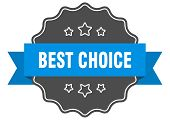 Best Choice Blue Label. Best Choice Isolated Seal. Best Choice poster